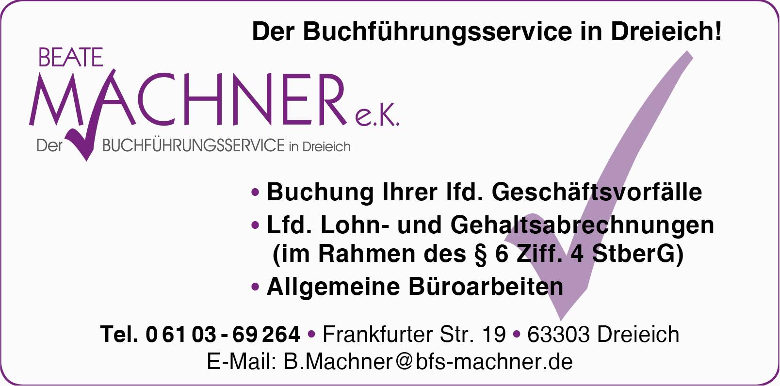 Beate Machner e.K. Der Buchführungsservice in Dreieich
