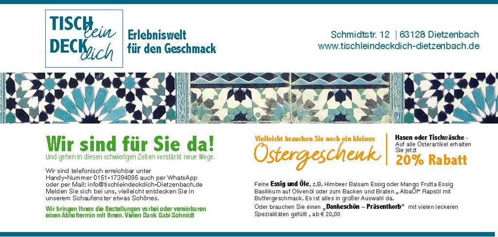 TischleinDeckDich Dietzenbach